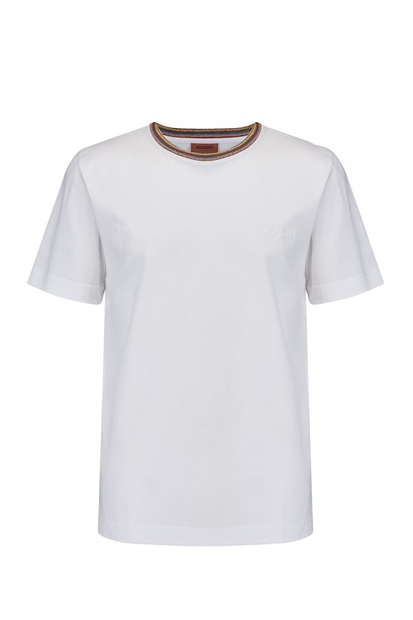 Missoni Men's Short Sleeve Crew T-Shirt White - New W20 Collection