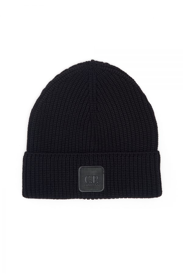 C.P. Company Beanie Hat Black - New W20 Collection