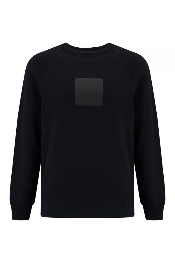 C.P. Company Metropolis Series Men's Fleece Logo Sweatshirt Black - New SS21 Collection