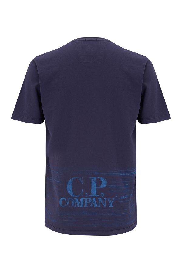 C.P. Company Men's Jersey Vintage Logo T-shirt Purple - New SS21 Collection