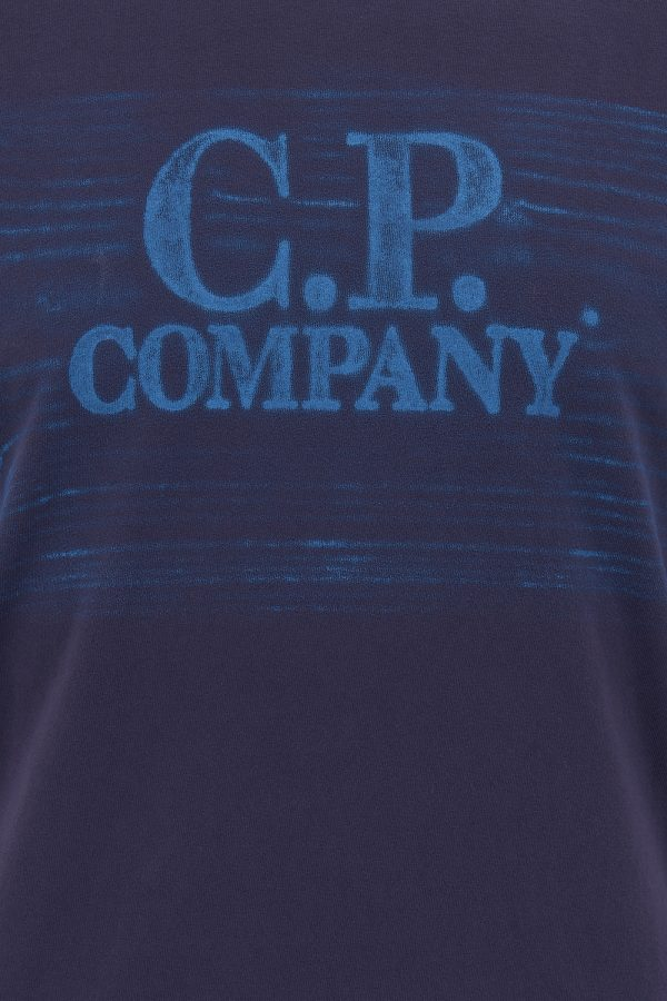 C.P. Company Men's Faded Logo T-shirt Purple - New SS21 Collection