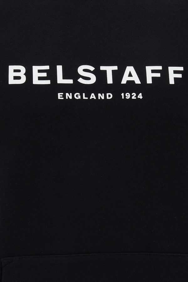 Belstaff 1924 Men's Cotton Sweat Hoodie Black - New SS21 Collection