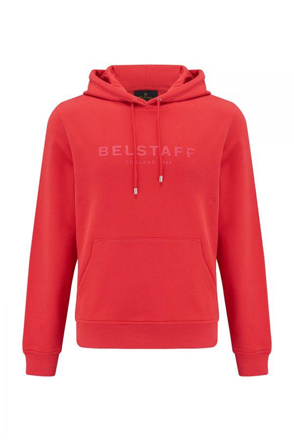 Belstaff 1924 Men's Logo-print Hoody Red - New SS21 Collection