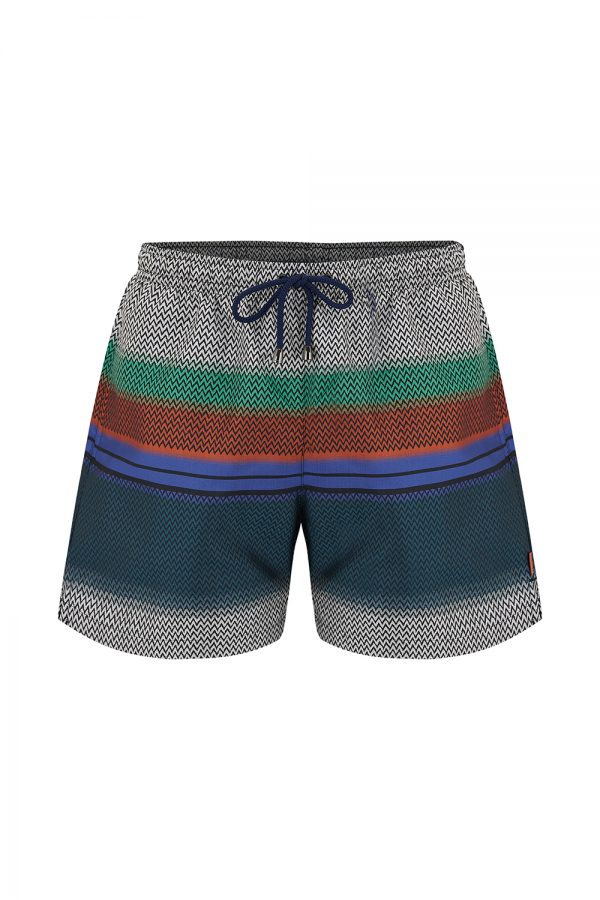 Missoni Men's Zigzag-print Swim Shorts Multicoloured - New SS21 Collection
