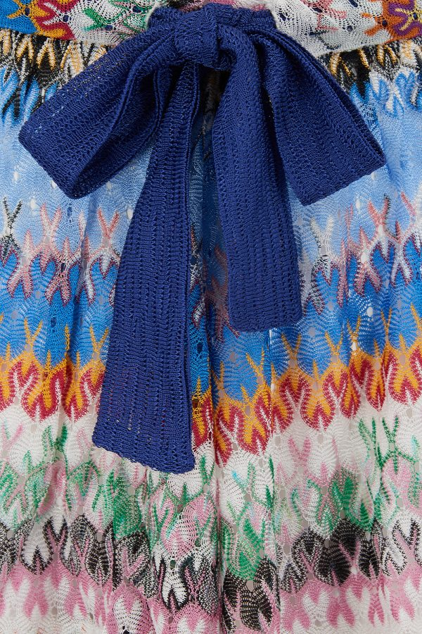 Missoni Women's Contrast Bow Shorts Blue - New SS21 Collection