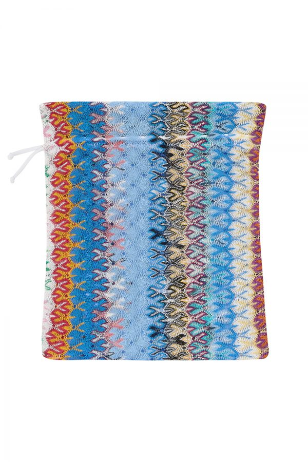 Missoni Women's Crochet-knit Triangle Bikini Blue - New SS21 Collection