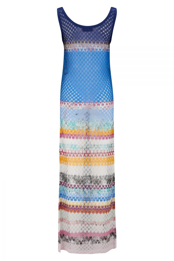 Missoni Women's Wave Pattern Maxi Dress Blue - New SS21 Collection