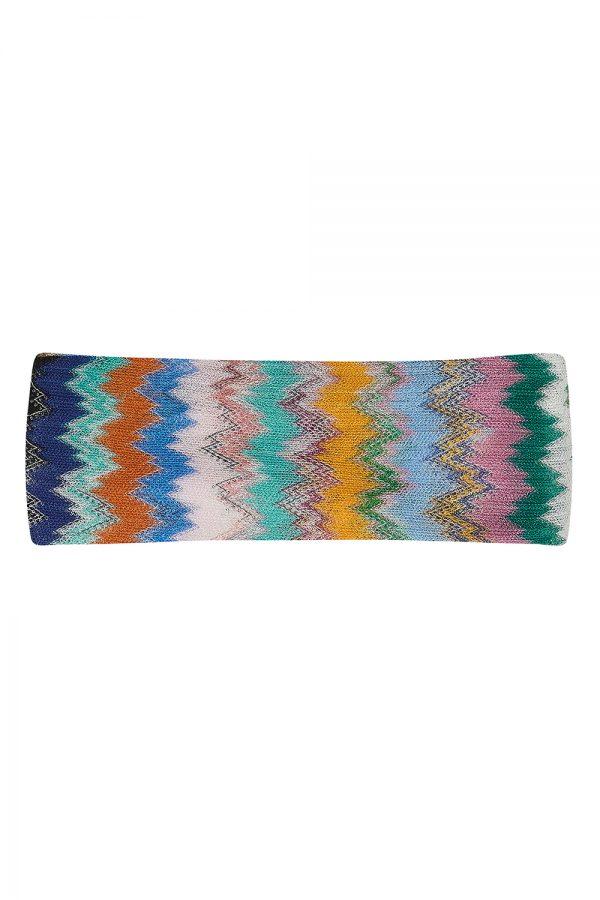 Missoni Women's Zig-zag Crochet-knit Headband Multicoloured - New SS21 Collection