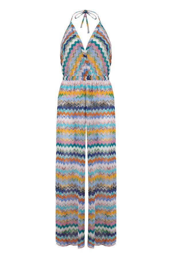 Missoni Women's Halterneck Zig-zag Jumpsuit Multicoloured - New SS21 Collection