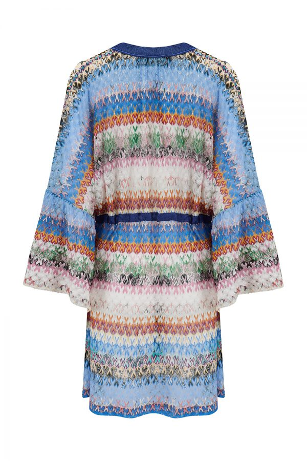 Missoni Women's Striped Short Cover-up Blue - New SS21 Collection