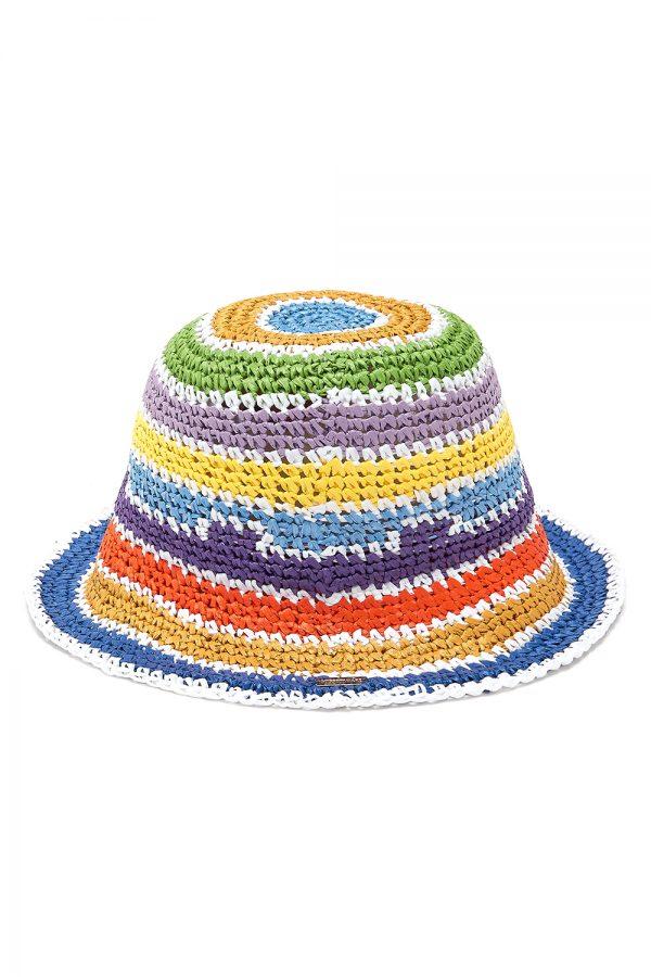 Missoni Women's Rainbow Stripe Bucket Hat Multicoloured - New SS21 Collection