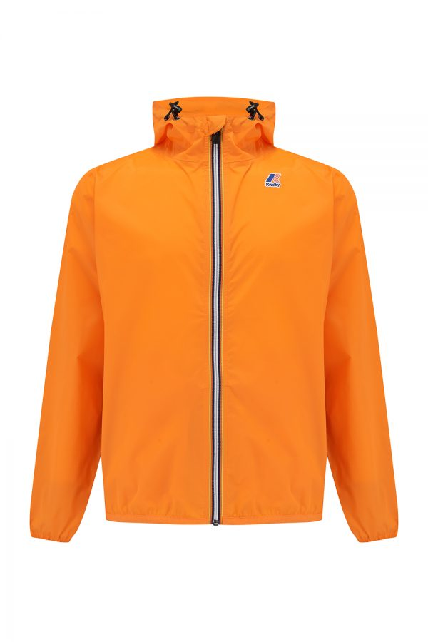 K-Way Le Vrai Claude 3.0 Men's Hooded Nylon Jacket Orange - New SS21 Collection