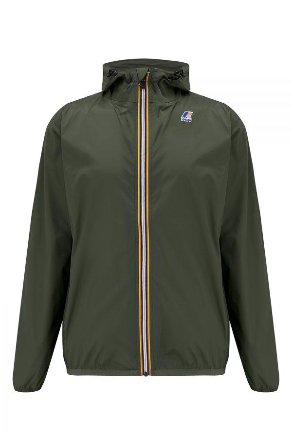 K-Way Le Vrai Claude 3.0 Men's Short Packable Jacket Khaki - New SS21 Collection