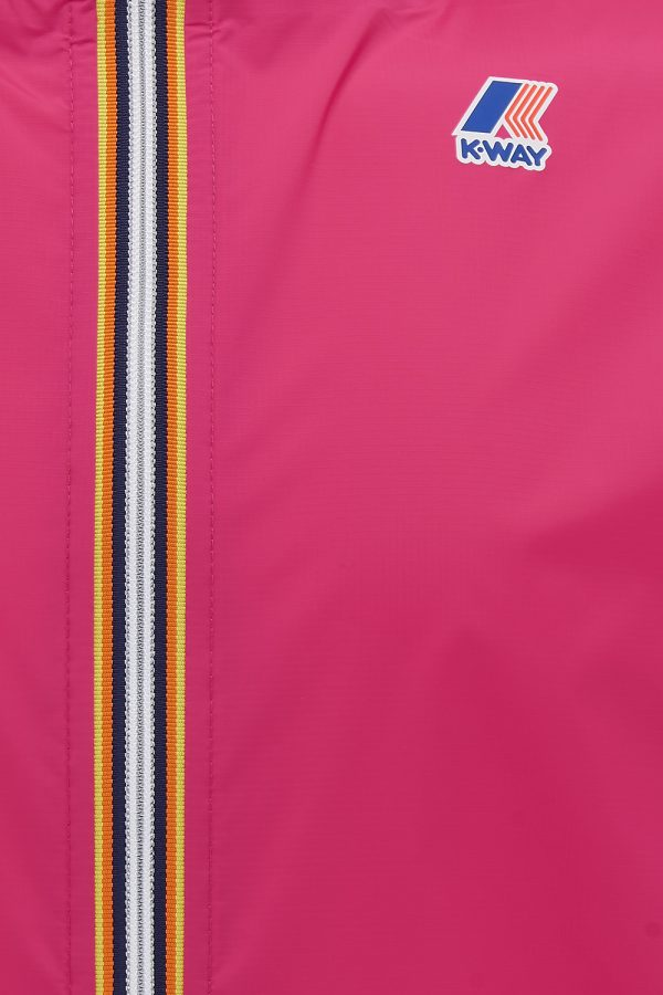 K-Way Le Vrai Claude 3.0 Men's Hooded Rain Jacket Fuchsia Pink - New SS21 Collection