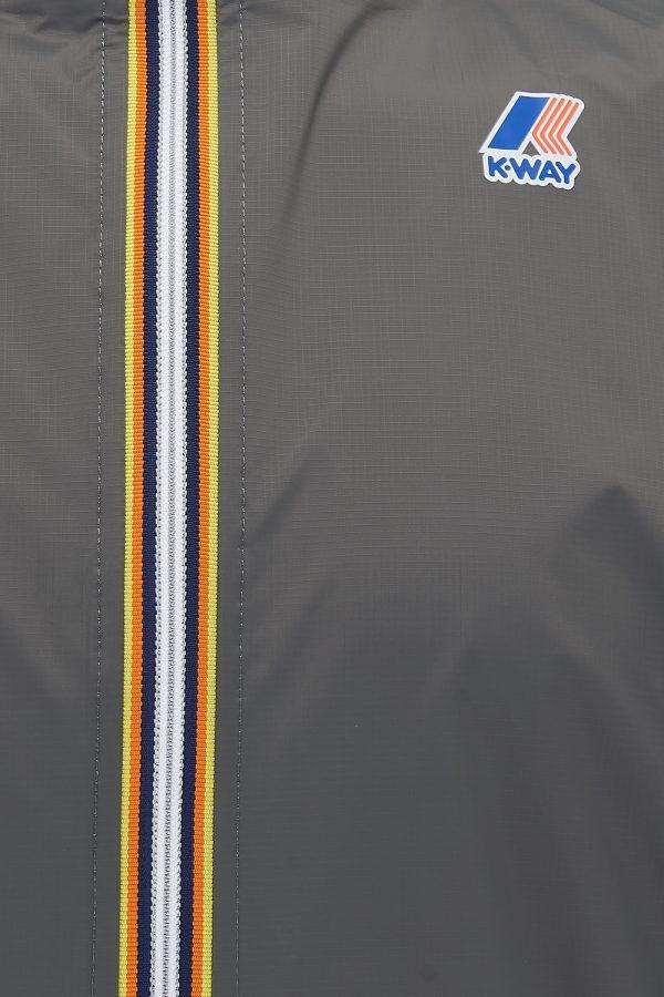 K-Way Le Vrai Eiffel 3.0 Men's Long Waterproof Parka Grey - New SS21 Collection