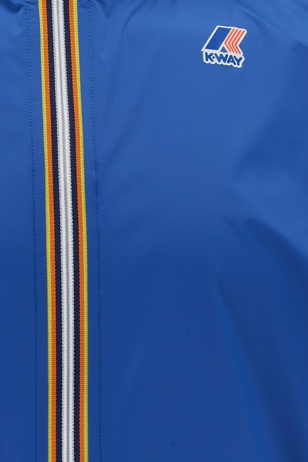 K-Way Le Vrai Eiffel 3.0 Men's Long Windbreaker Blue - New SS21 Collection
