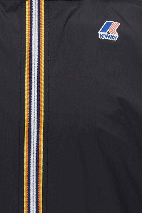 K-Way Le Vrai Eiffel 3.0 Men's Long Nylon Parka Black - New SS21 Collection