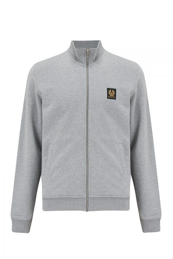 Belstaff Men's Logo-patch Track Jacket Light Grey - New SS21 Collection