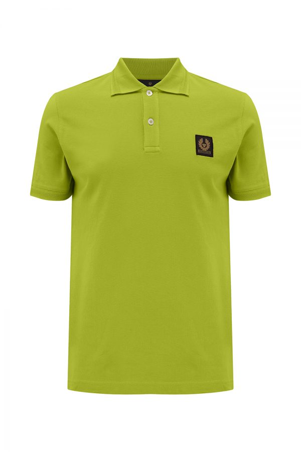 Belstaff Men's Logo-patch Polo Shirt Lime Green - New SS21 Collection