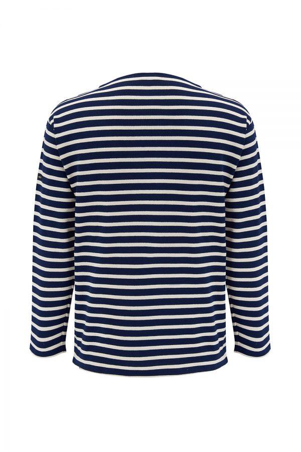 Saint James Guildo R A Men's Striped Top Navy/White - New SS21 Collection