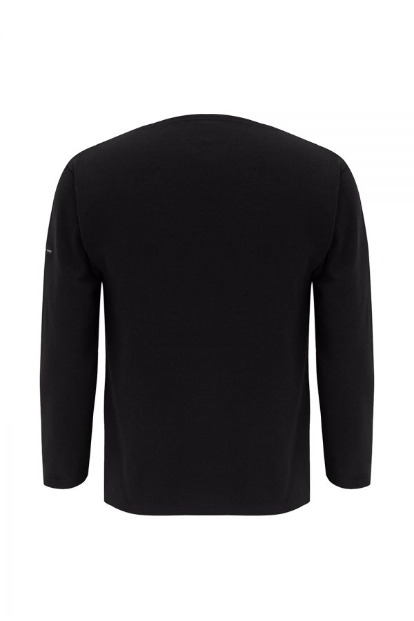 Saint James Guildo R A Men's Long-sleeved Top Black - New SS21 Collection