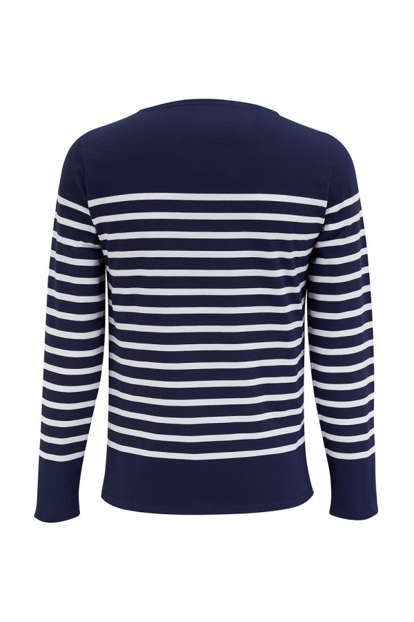 Saint James Naval Men's Breton Stripe Top Navy/White - New SS21 Collection