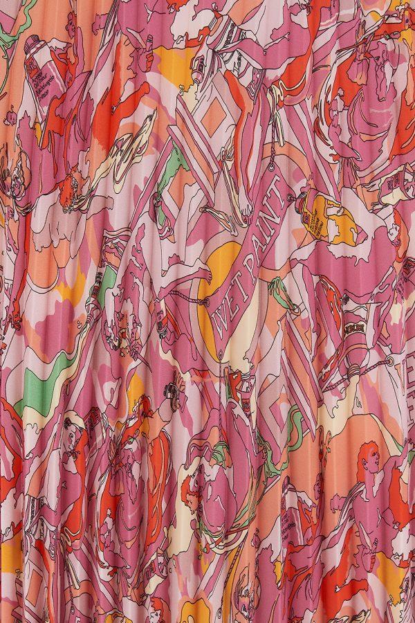 Iceberg Women's Michelangelo Pleated Midi Skirt Pink - New SS21 Collection