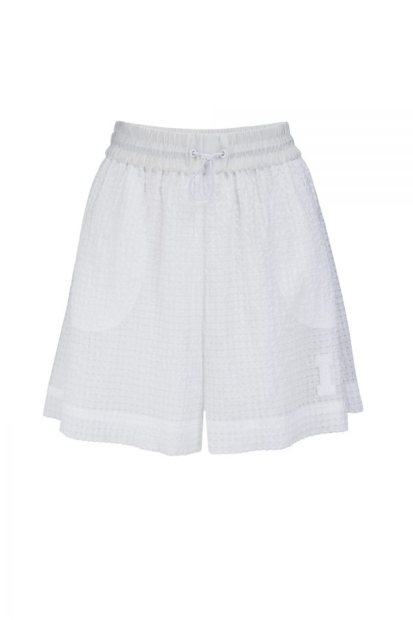 Iceberg Women's High-rise Drawstring Shorts White - New SS21 Collection