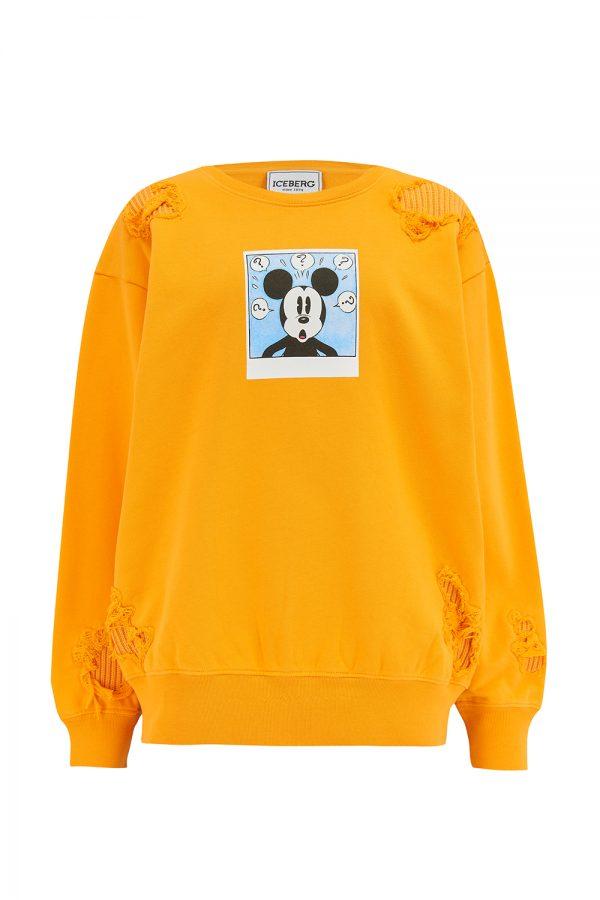 Iceberg Women's Mickey Mouse Polaroid Sweatshirt Yellow - New SS21 Collection