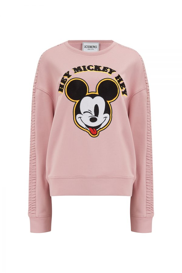 Iceberg Women's Mickey Mouse Ruffle Shoulder Sweatshirt - New SS21 Collection