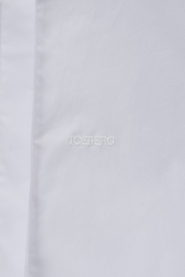 Iceberg Women's Classic Long-sleeved Shirt White - New SS21 Collection