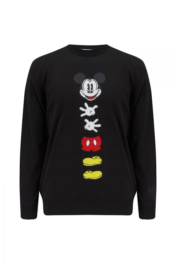 Iceberg Men's Mickey Mouse Appliqué Jumper Black - New SS21 Collection