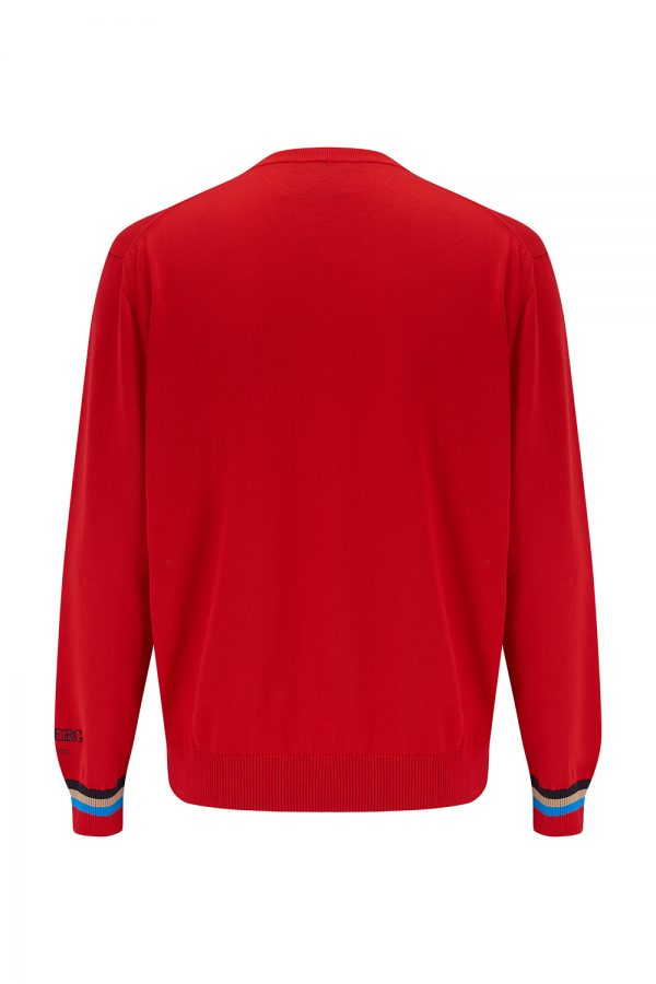 Iceberg Men's Mickey Mouse Cotton Sweater Red - New SS21 Collection