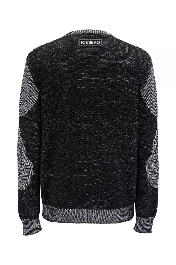 Iceberg Men's Mickey Mouse Motif Knitted Sweater Monotone - New SS21 Collection
