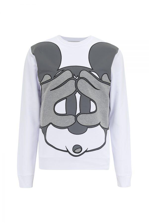 Iceberg Men's Mickey Mouse Print Sweatshirt White - New SS21 Collection