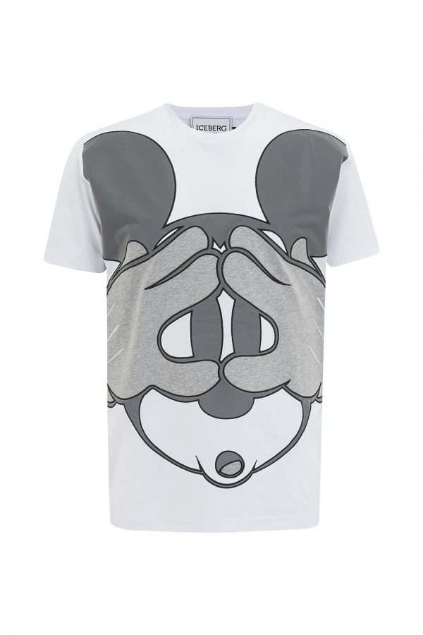 Iceberg Men's Mickey Mouse Graphic T-shirt White - New SS21 Collection