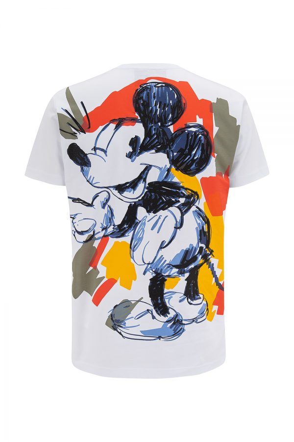 Iceberg Men's Mickey Mouse Crew Neck T-shirt White - New SS21 Collection