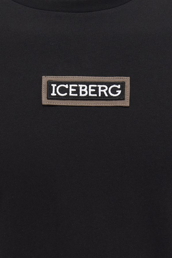 Iceberg Men's Mickey Mouse Rear Print T-shirt Black - New SS21 Collection