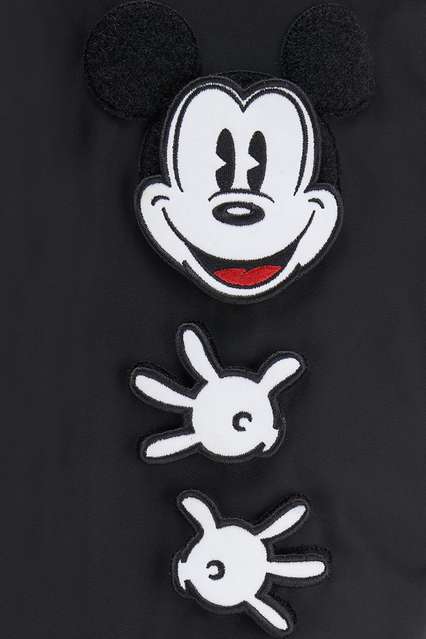 Iceberg Men's Mickey Mouse Bomber Jacket Black - New SS21 Collection