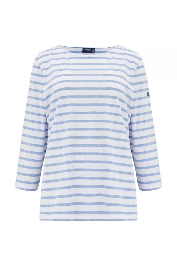 Saint James Galathee II Women's Nautical Striped Top Blue/White - New SS21 Collection