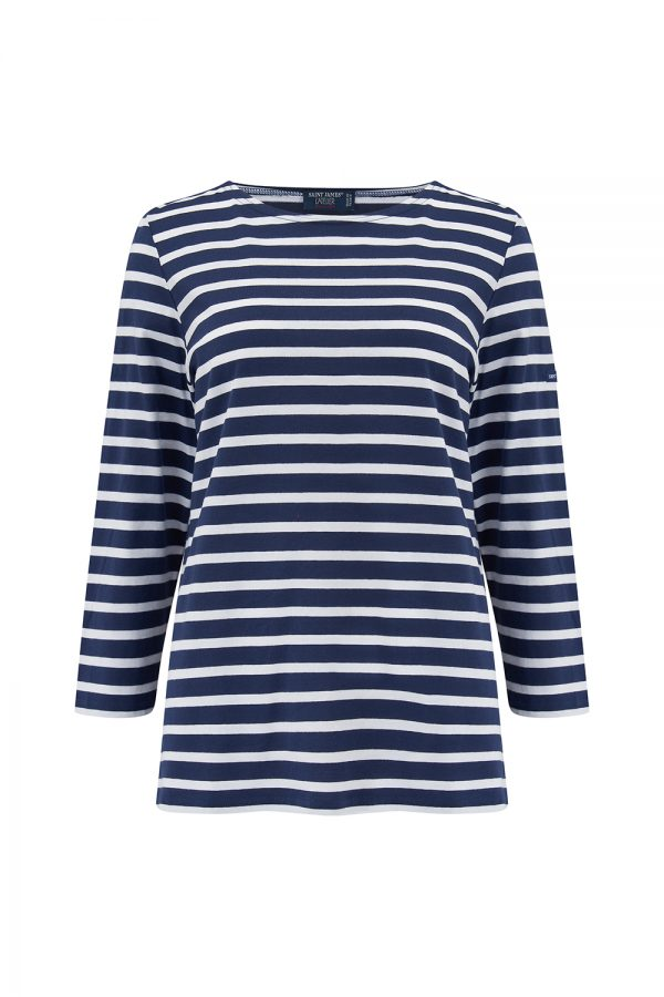 Saint James Galathee II Women's Long-sleeved T-shirt Navy/White - New SS21 Collection