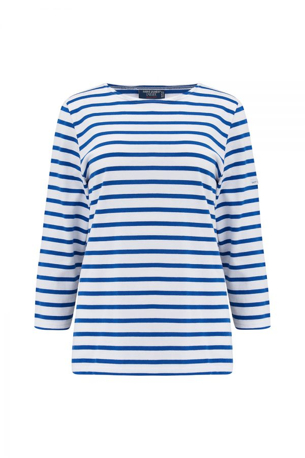 Saint James Galathee II Women's Striped Jersey Top Blue/White - New SS21 Collection