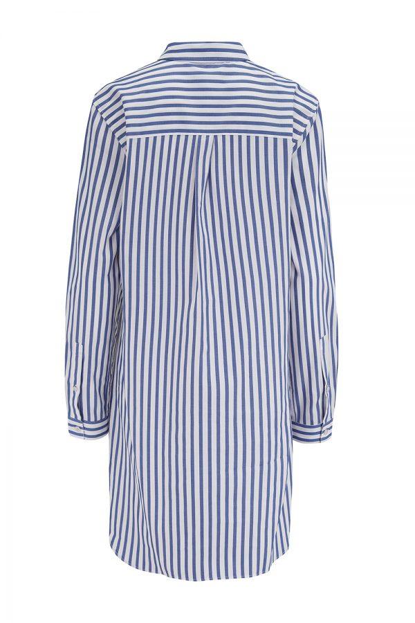 Saint James Benedicte Women's Striped Shirt Dress Blue/White - New SS21 Collection