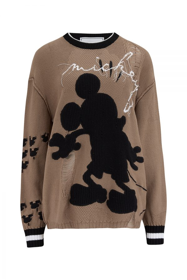 Iceberg Women's Micky Mouse Silhouette Jumper Brown - New SS21 Collection