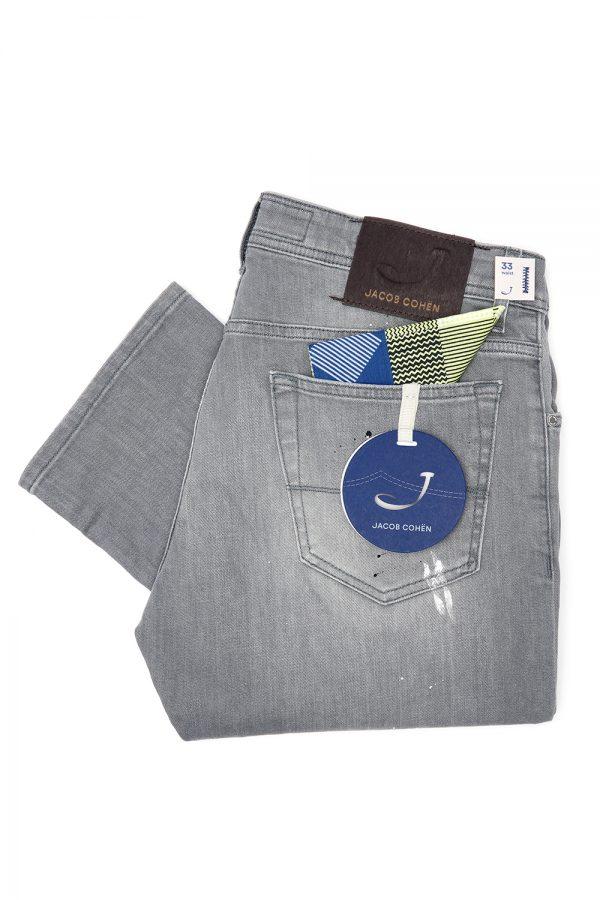 Jacob Cohën J622 Men's Distressed Slim Jeans Grey - New SS21 Collection