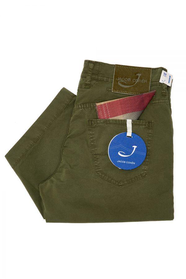 Jacob Cohën J6636 Men's Stretch Cotton Shorts Khaki - New SS21 Collection