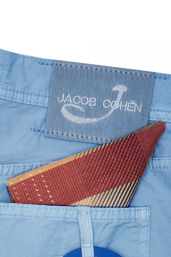 JACOB COHËN J6636 MEN'S STRETCH COTTON SHORTS LIGHT BLUE – NEW SS21 COLLECTION