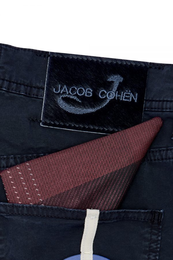 JACOB COHËN J6636 MEN'S STRETCH COTTON SHORTS INDIGO – NEW SS21 COLLECTION