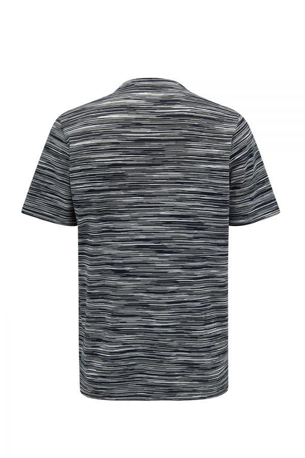 Missoni Men's Striped Cotton Jersey T-shirt Black - New W21 Collection