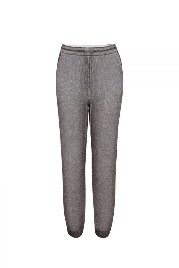 Missoni Women's Metallic Knitted Pants Purple - New W21 Collection